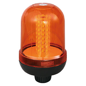 SMD LED Police Beacon Light For Moped 24W 12V/24V Amber With DIN A Mount IP66 ECE/R10 #S806