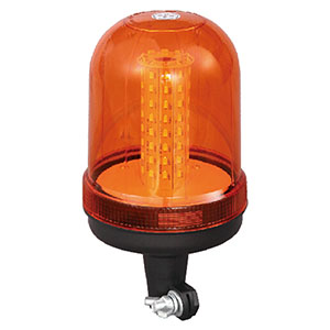 LED Flashing Beacon SMD For Electric Empty Container Handler 24W 12 Volt Orange With Pole Mount IP66 E-mark #806