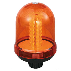 SMD LED Flashing Beacon For Electric Empty Container Handler 24W 12V/24V Amber With Pole Mount IP66 ECE R10 #807