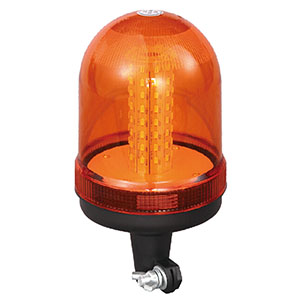 LED Strobe Beacon SMD For Go-anywhere Vehicle 24W 12 Volt Orange With DIN A Mount IP66 E-mark #807