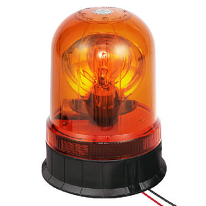 Rotating Beacon Light For Vehicles 70W/24V Halogen Amber With Three-Bolt IP66 ECE R10/R65 #H806