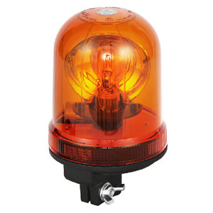 Flashing Amber Beacon For Sport-Utility Vehicles 70W/24V Halogen With Pole Mount IP66 CE E9 #H806