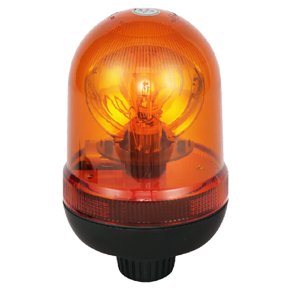 Halogen Amber Beacon Light For Passenger Car 70W/24V With Pole Mount IP66 ECE R10/R65 #H807
