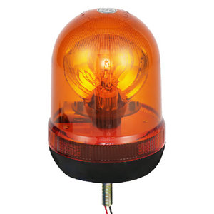 Halogen Emergency Beacon Light For City Bus 70W/24V Yellow With Single-Bolt IP66 CE E9 #H807