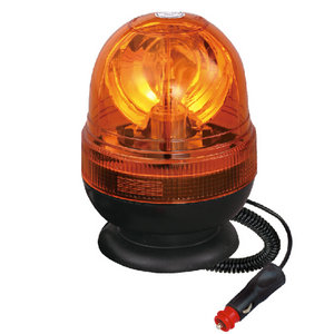 24V Flashing Beacon Halogen For Agricultral Vehicles 70W Yellow With Magnetic IP66 CE E9 #H814