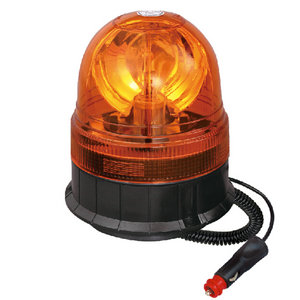 Red Flashing Beacon For Truck Trailer Halogen 55W/12V Orange With Magnetic IP66 E-mark #H814