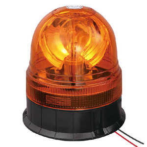 24V Rotating Beacon For Walking Tractor 70W Halogen Amber With Three-Bolt IP66 ECE R10/R65 #H814