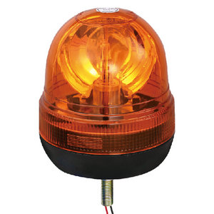 Halogen Emergency Beacon Strobe Light For Container Trailer 55W/12V Yellow With Single-Bolt IP66 CE E9 #H814