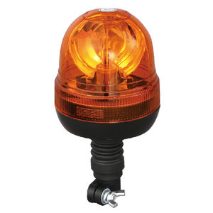 Hazard Beacon For Tipping Trailer Halogen 55W/12V Amber With DIN A Mount IP66 ECE R10/R65 #H814