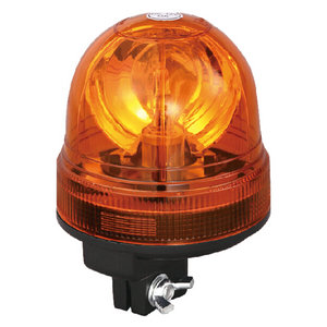 Beacon Amber Light For Box Trailer 70W/24V Halogen Yellow With Pole Mount IP66 CE E9 #H814